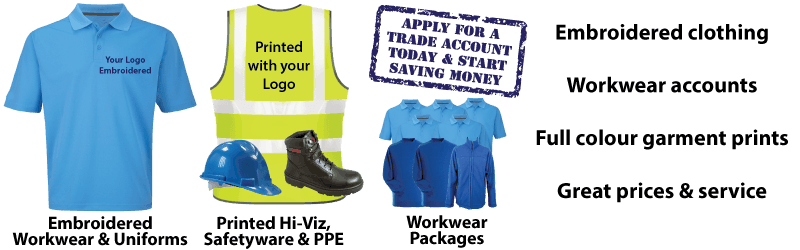 Discount Embroidered workwear - quotations and bulk discounts
