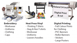 Embroidery, Heat Press Vinyl & Digital Printing