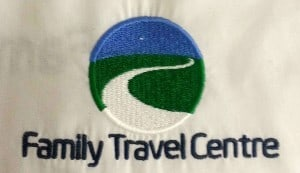 Family Travel Centre embroidered work clothing